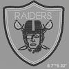 iron on raiders crystal rhinestone transfer for clothing