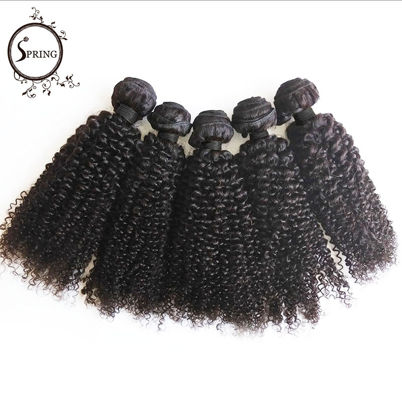 "Spring Hair Wholesale malaysian Kinky Curly virgin hair Cheap Human Hair Weave  1B balck 8"" to 30"" Aliexpress UK 10 Bundles/1kg"