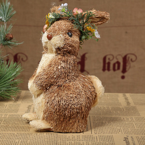 Handmade Straw Cute Gifts/Christmas Rabbit/Ornaments