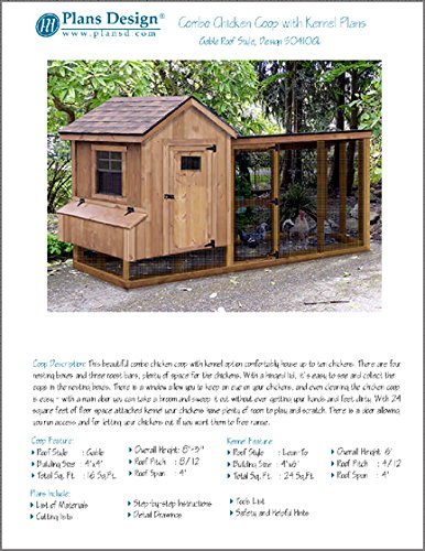 5/'x6/' Gable Poultry Chicken House Coop Plans 90506G