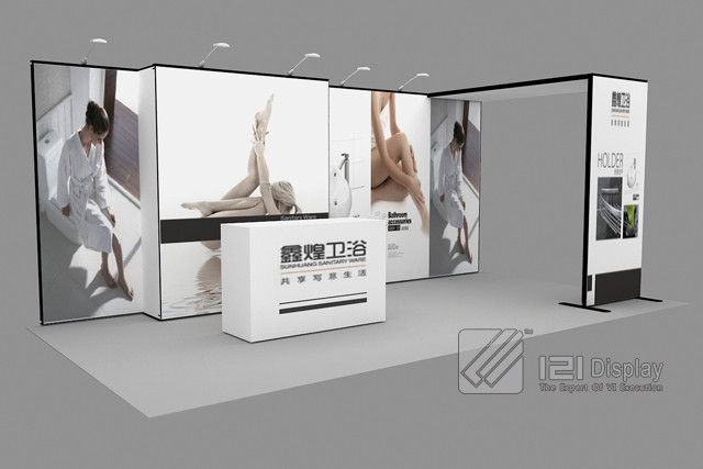 Exhibition Booth Lighting : Modular aluminum booth exhibition display for show