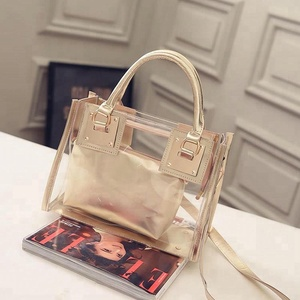 China manufacturer fashion women jelly candy summer bag tote handbag PVC transparent jelly bag
