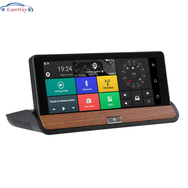3G 7 inch Car DVR GPS Navigation Android 5.0 Bluetooth wifi Automobile with Rear view camera Navigators sat nav Free maps