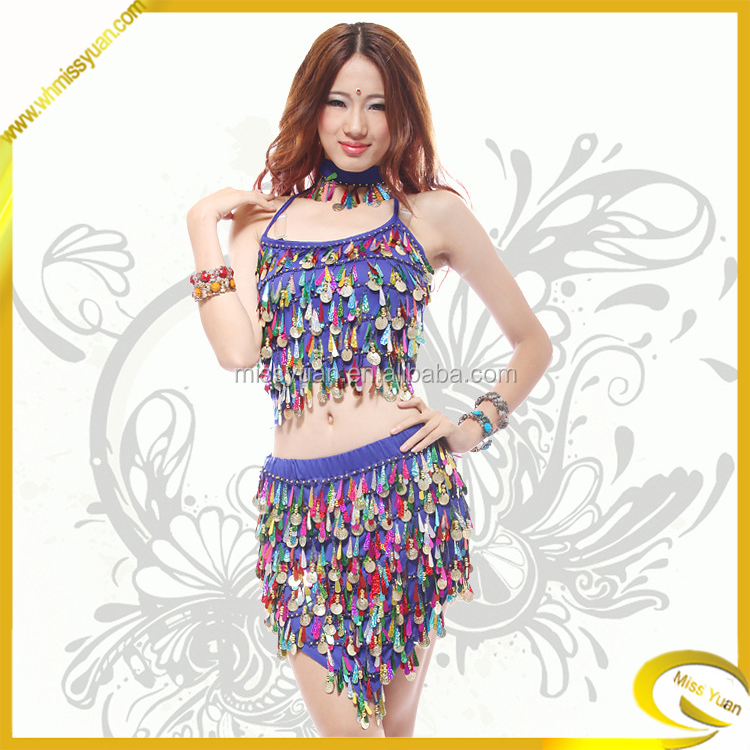 2015 factory fashion sequin latin dance dress for women