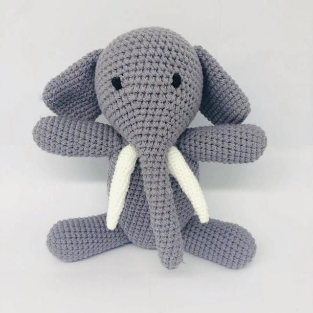 2019 Hot Sale Handmade Crochet Stuffed Animals Toys Elephant And Horse  Shape Baby Toys - Buy Crochet Stuffed Baby Toys,Customized Crochet Imitated