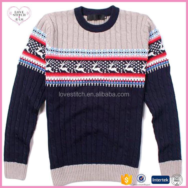christmas hot sale wholesale factory price jacquard men's pullover sweat wholesale factory price jacquard men's pullover sweater