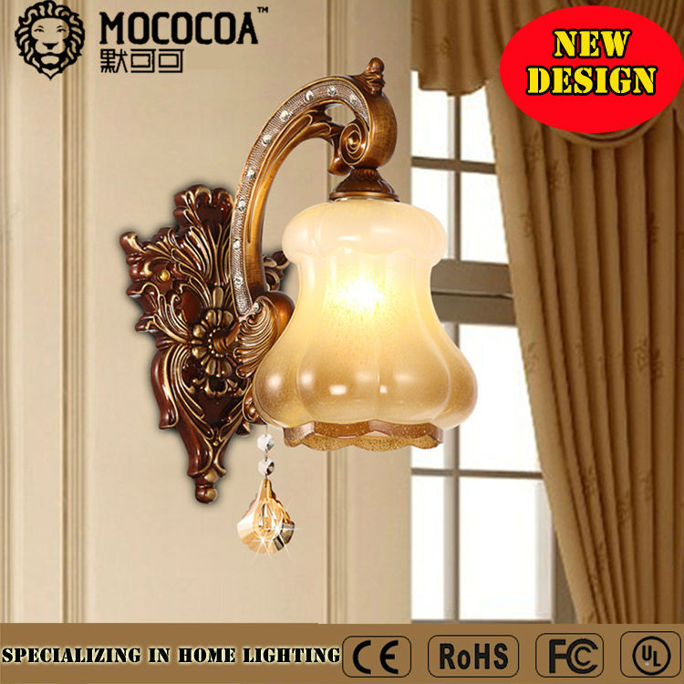 2016 rustic single buld wall mounted lamp mosaic wall light