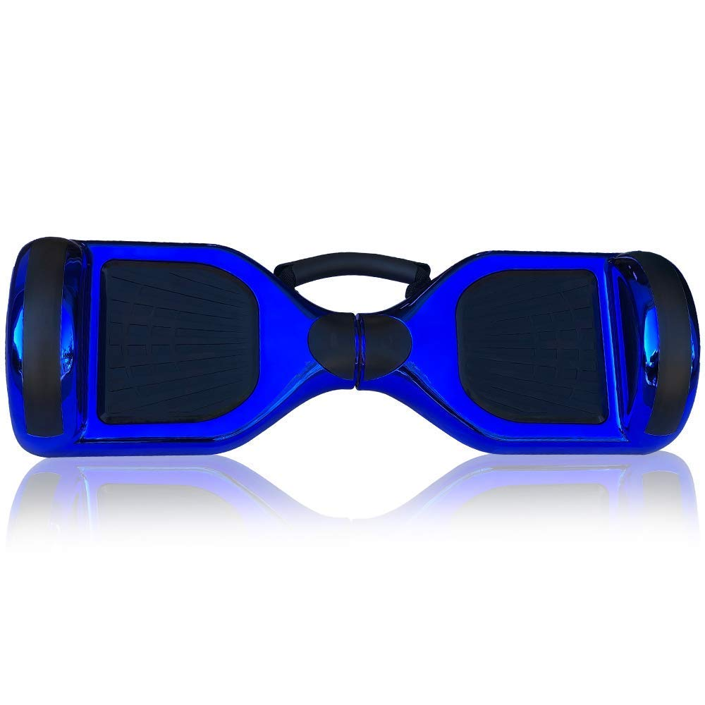 WorryFree Gadgets Hoverboard Self Balancing Electric Scooter UL2272 Certified 6.5inch Light Up Wheels Bluetooth Speaker LED Lights Hover Board with Special Carrying Handle