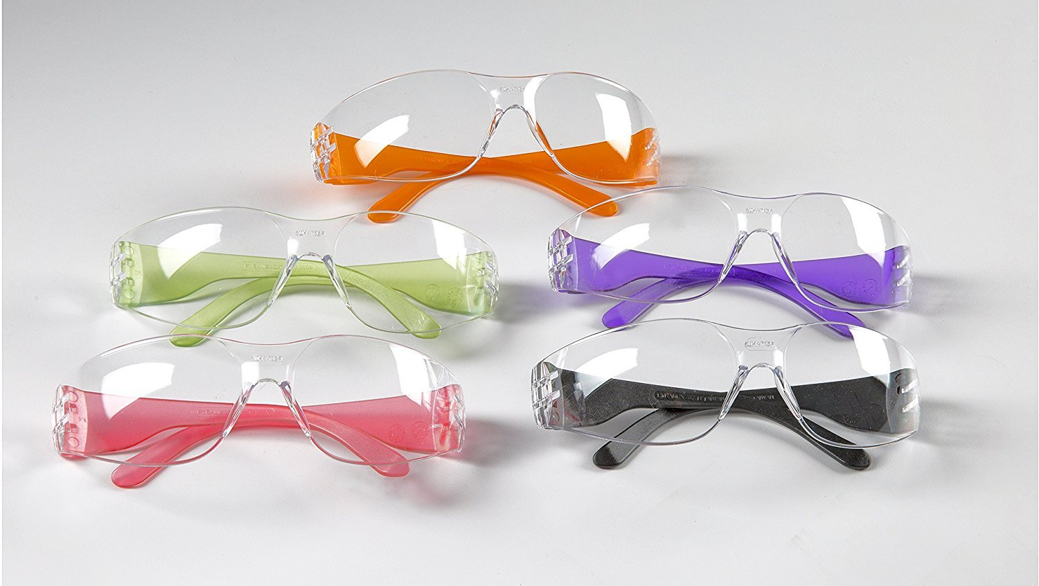 f66698bea9d2 12pak Safety Glasses for Nerf Gun Kids Party - Clear Lens w/Multi-Colored