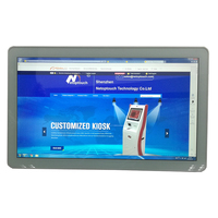 Selling 21.5 inch tablet/desktop/wall mounted multimedia touch screen all in one kiosk Android with PC