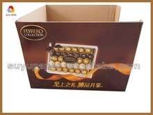 Small counter corrugated paper display stand for chocolate