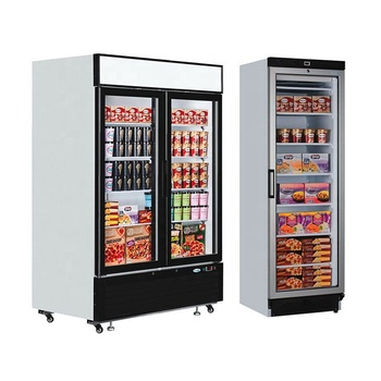 Plug in double glass door pepsi fridge 2 doors cola refrigerator with CE