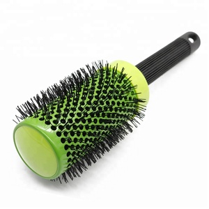 Hairdressing Brushes Hair Combs Green Ceramic Iron Round Comb Hair Styling Tool Hairbrush