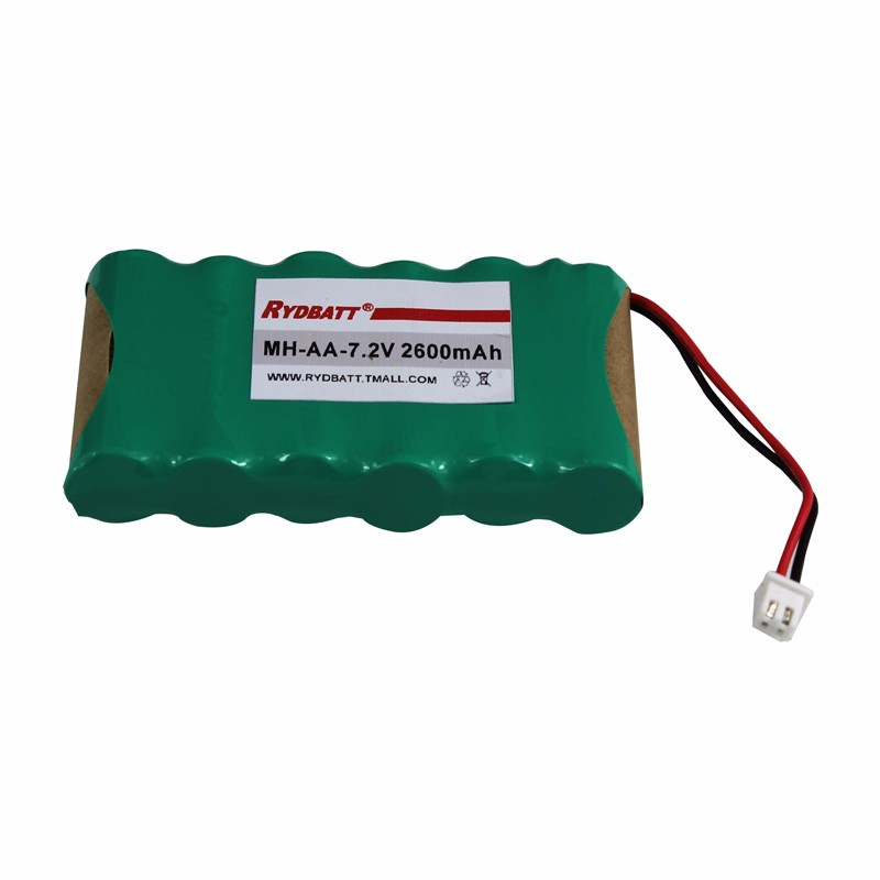 NiMH-7.2V-2600mAh-6S1P battery pack for alarm equipments
