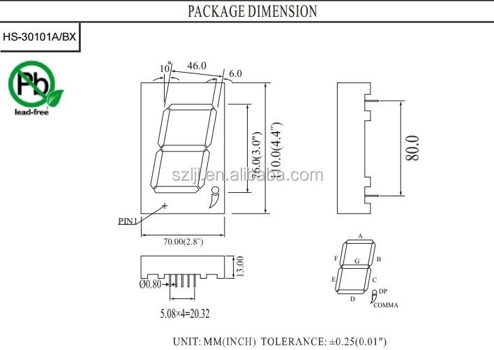 3 inch 7 segment display pure white led digit wall clock