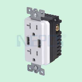 Usb Wall Socket American Us Canada Standard Socket 2 Gang Electrical ...