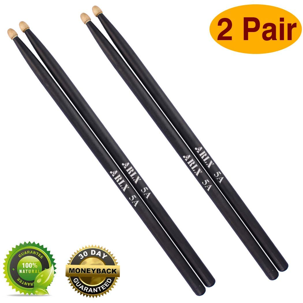 Drum sticks 5a Wood Tip drumsticks Classic Red drum stick (2 pair Black -5A drumstick)
