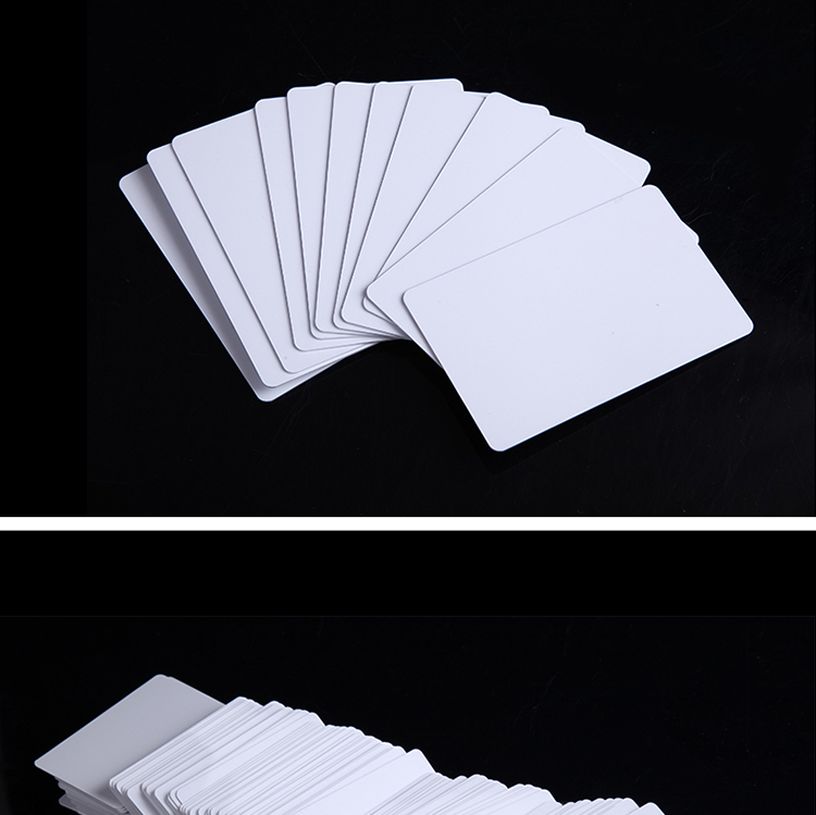 High Quality CR80 Size F08 HF 13.56MHz Inkjet Writable Blank Chip Card