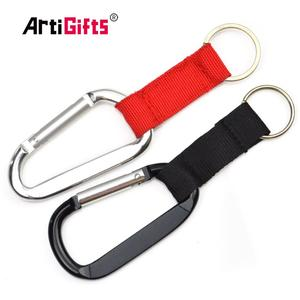 Hot sale fashion aluminum climbing clip carabiner hook key chain