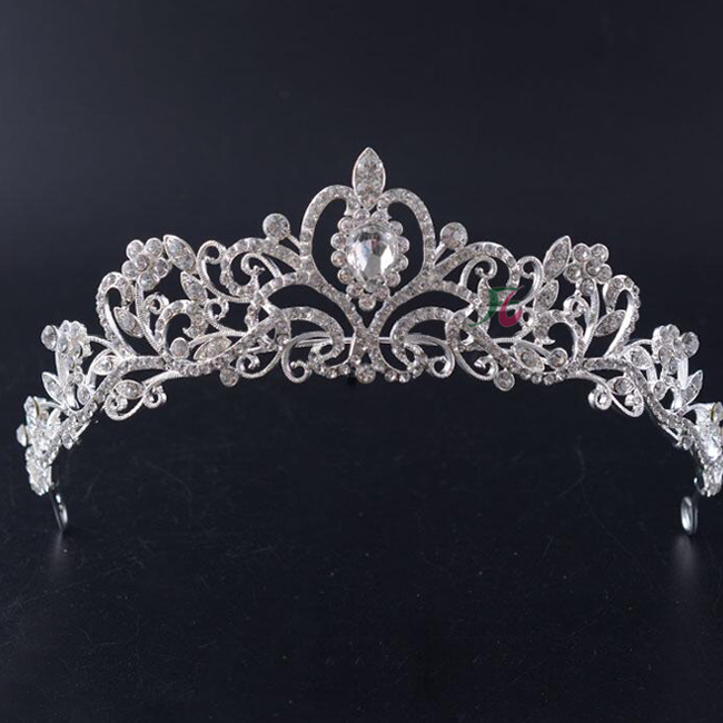 2019 Hotsale Style of Most Popular Beauty Pageant Crowns & Rhinestone Crystal Tiaras For Bride