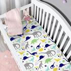 Cartoon Animal Dinosaur Digital Printing Baby Bed Sheet Set 100% Cotton Knitted Crib Sheets Baby Fitted