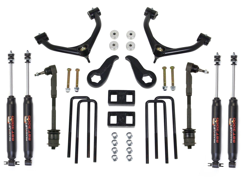 "ReadyLift 69-3512 4.0"" Front/2.0"" Rear Tubular UCA SST Lift Kit with SST3000 Shocks"