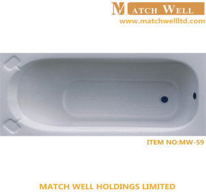 2016 embedded bathtub/enameled cast iron hot bath for hotel project