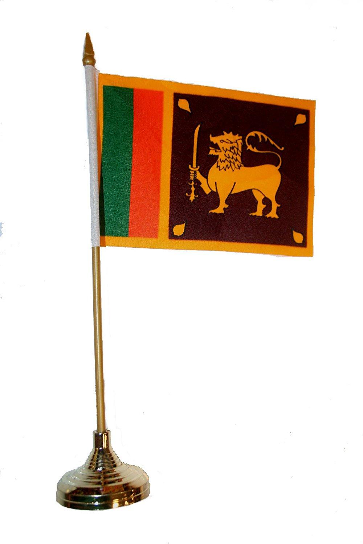 SRI LANKA  6inch x 3inch Quality Satinette Table Flag
