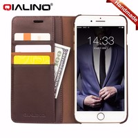 Factory Direct Price Cow Leather For Iphone 7 Wallet Style Leather Case With Stand