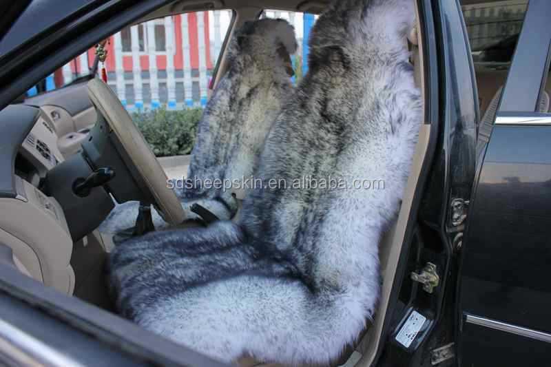 Newzealand Long Hair Genuine Sheepskin Car Seat Covers Tie Dye Car ...