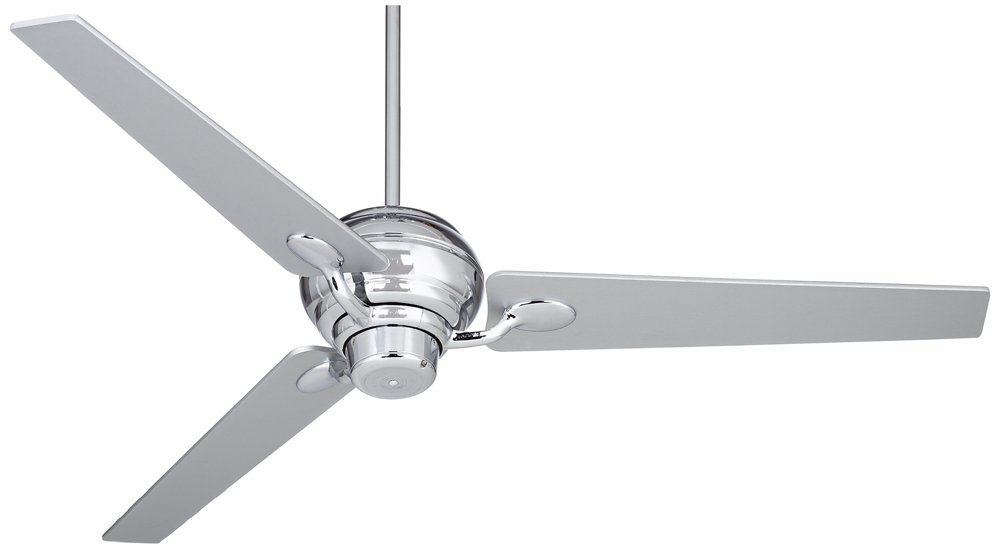 "60"" Spyder Silver Taper Blades and Chrome Ceiling Fan"