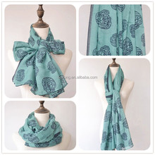 Teal color new skull scarf