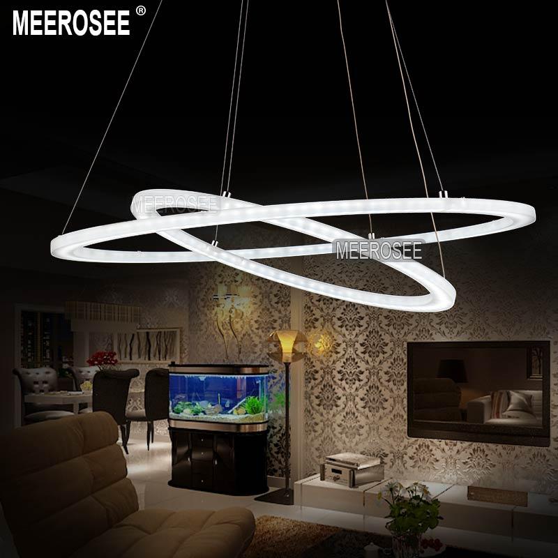 100 Best Corridors Stairs Lighting Images By John: Meerosee Modern LED Ring Chandelier Light Fixture, LED