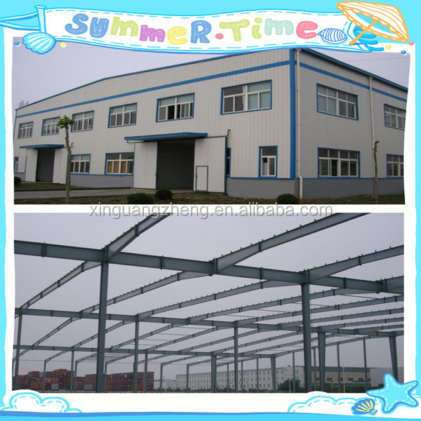 modern prefabricated building steel structure shed