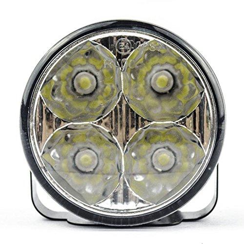 Docooler 2x DC 12V Super Bright Cool White Round Vehicle LED Daytime Running Light 4 Led Car Charger Driving DRL Fog Lamp
