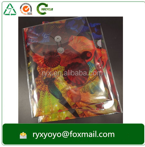china factory CMYK printed hard plastic Polypropylene string closure envelope a4 size
