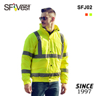 Wholesale Traffic Custom Road Winter Security Work Windproof Waterproof High Visibility Reflective Safety Bomber Jacket for Mens