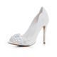 2018 True love elegant shinning women high heel white wedding shoes fancy bridal sandals