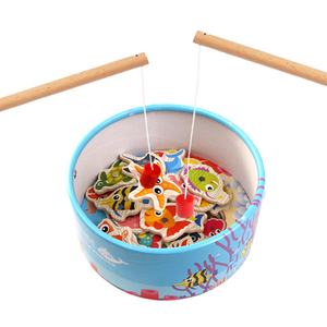 Educational Wooden Magnetic Fishing Game Toy