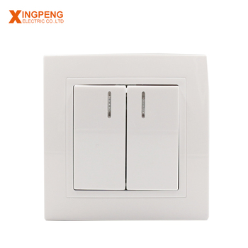 Hot Sales European Type 2 Gang Switch With Light Wall Light With On Off  Switch - Buy One Gang Way Light Wall Touch,Wall Light With On Off