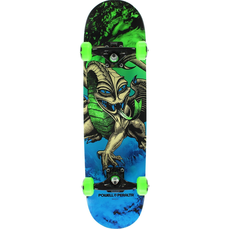 "Powell Peralta Steve Caballero Dragon Storm Blue / Green Complete Skateboard - 7.5"" x 28.65"""