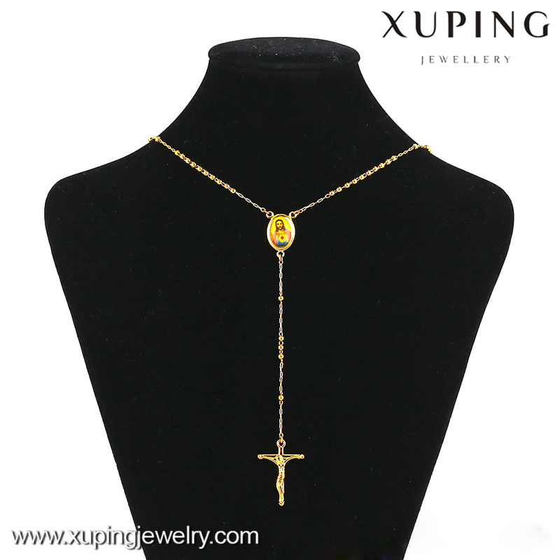 42845 xuping saudi gold necklace, 14k gold fancy long chain necklace, new model chain necklace
