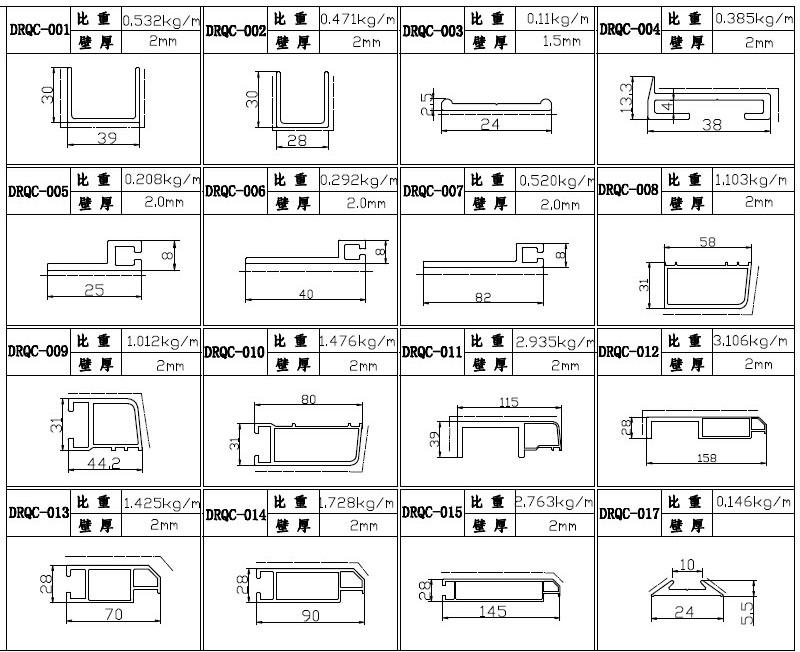 Aluminum Extrusion Rack Aluminum Profiles Car Roof Carrier