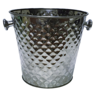 Embossed stainless steel ice bucket Hammered Metal Ice Bucket Champagne Beer Bucket/Cooler