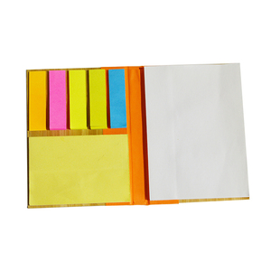 Manufacturer china school stationery mini hard cover sticky note pad