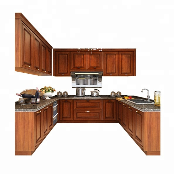 Guangzhou Prefab Models Kitchen Cabinets Solid Wood With Free Designs - Buy  Kitchen Cabinets Solid Wood,Wood Kitchen Cabinet,Wooden Kitchen Cabinet ...