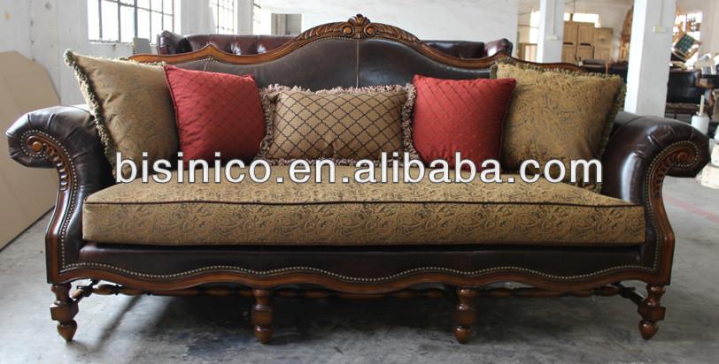 Elegante de estilo espa ol mobiliario de sala conjunto for Muebles de sala tallados en madera