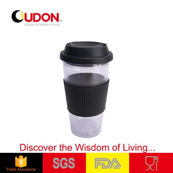 0.48L Round body bulk coffee mugs with lid and band