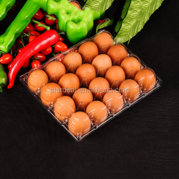 Customized clear PVC 20 Holes Hot Form Plastic Egg Blister Tray