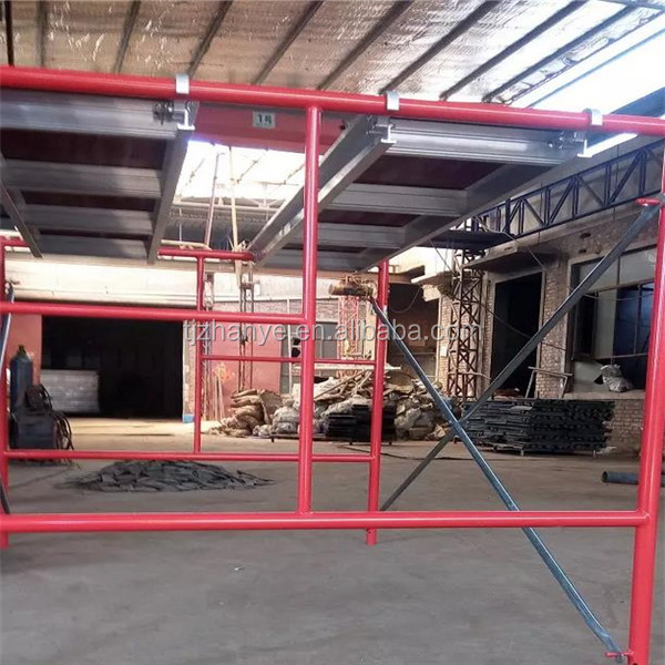 5'x5' Red Color Mason Scaffold Frame With Flip Lock